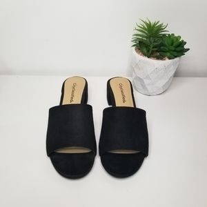 City classified Open toe slip on mules